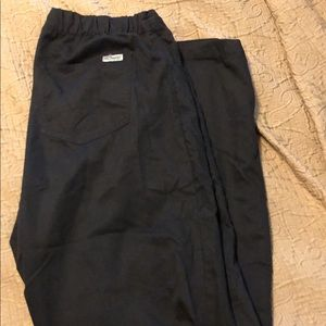 Size medium black scrub pants